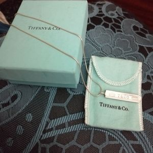 Tiffany and Co large bar necklace